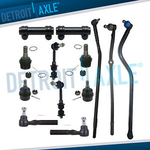 For 2000 2001 Dodge Ram 1500 Front Tie Rods Ball Joints Track Bar Sway Bars 4wd