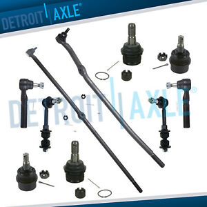 2000 2001 Dodge Ram 1500 Front Tie Rods Ball Joints Track Bar Sway Bars 4wd 10pc