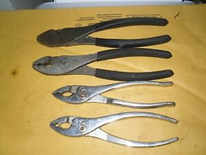 Craftsman 4pc 45372 6 3 4 45379 8 1 4 Slip Joint Plier Set Usa