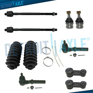 10pc Inner Outer Tierods Sway Bar Links For 2000 03 Subaru Baja Legacy Outback