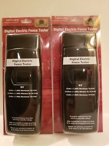 Lot Of 2 Deft1 afw Digital Electric Fence Tester American Farm Works