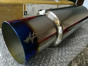 Hks Hi Power 3 Inch 76mm Inlet Exhaust Racing Muffler For Turbo Cars Burnt Tip