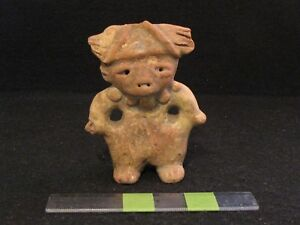 Pre Columbian Pottery Tested Proto Mayan Figure L Form 300 Bc 200 Ad