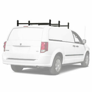 Universal Van Ladder Roof Racks Adjustable 3 Cross Bar 500lb Cargo Carrier Rack