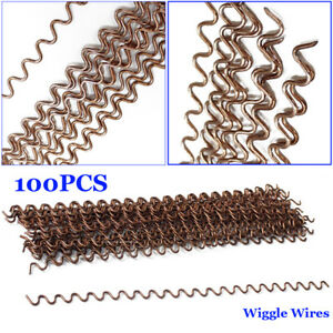 100x Wiggle Wire 0 08 Car Dent Repair Fix Spot Soldering Thick Body Work Puller