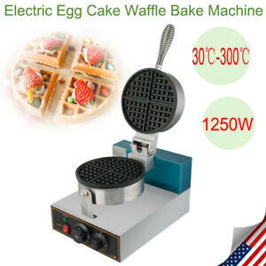 Electric Egg Cake Waffle Bake Machine Oven Puff Bread Maker Stainless 1 25kw Usa