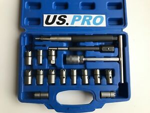 Us Pro Tools 17pc Diesel Injector Seat Cutter Set New 5587