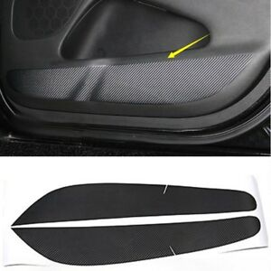 Carbon Fiber Style Door Anti Kick Protective Trim For Jeep Grand Cherokee 14 18