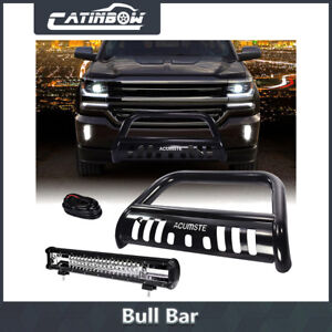 Blk Bumper Grille Guard Bull Bar 20 540w Led Work Light wiring For Chevy Gmc