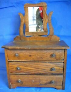 1905 Converse Salesman Sample Dresser W Mirror And Pulls