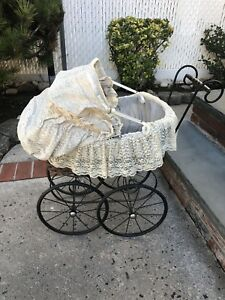 Vintage Baby Doll Carriage Staten Island To Pick Up Display Wicker