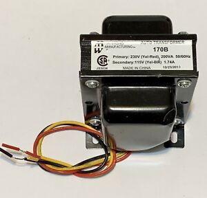 Hammond Manufacturing 170b Auto Transformer 230v Prim 115v Second200va sb3