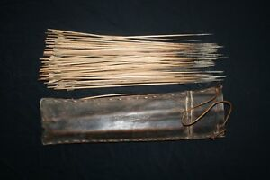 Old African Tribal Quiver 56 Arrows With Poison Pygmee Congo