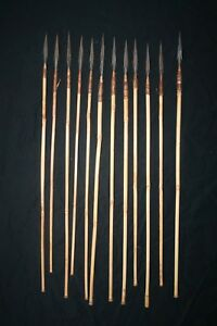 12 Old African Tribal Arrows Congo