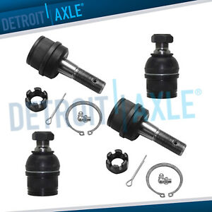 4 New Front Lower And Upper Ball Joint Set Ram 2500 3500 Dana 60 Axle 4wd