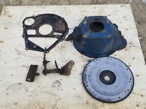 Ford 351m 400 Bellhousing Flywheel Block Plate And Clutch Linkages