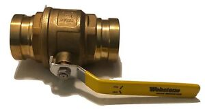 Webstone Lead Free 2 1 2 Pro Press Brass Ball Valve Adjustable Packing Gland
