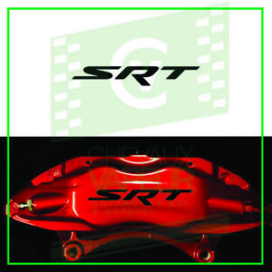 4x Srt Dodge Race Decal Sticker For Caliper High Quality Reproduction Brake