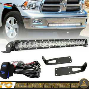 20 21 Led Light Bar Kit For Dodge Ram 1500 2500 Wiring Bumper Mounting Bracket