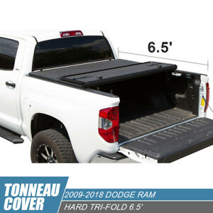 6 5ft Bed Assemble Hard Tri Fold Tonneau Cover Fit 09 18 Dodge Ram 1500 2500