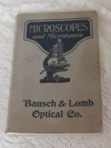 Antique Book 1923 Bausch Lomb Optical Co Microscope Microtomes Catalog