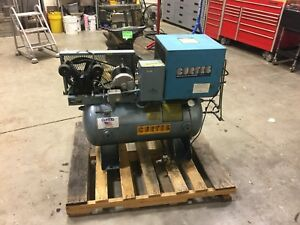 Curtis toledo Model 35a2ad Horizontal Air Compressor W Curtis Air Dryer