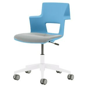Steelcase Turnstone Shortcut Office School Chair Adjustable Picasso Blue Nwt