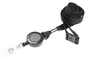 Retractable Id Badge Lanyard Badge Reel With Safety Breakaway 4 Colours
