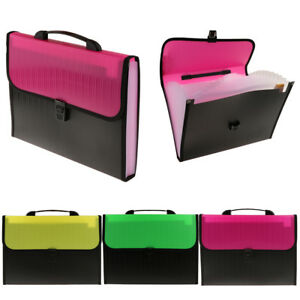 Expanding File Folder Pockets Letter Document Paper Storage Office Supplies