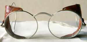 Vtg 20 s 30 s Willson Goggles Sunglasses Motorcycle Aviator Safety Glasses T1