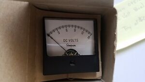 Simpson Dc Volt Panel Meter 09570 0 15 V