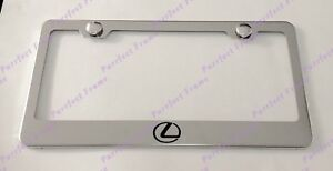Lexus Logo Stainless Steel License Plate Frame Rust Free W Bolt Caps