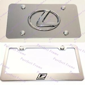 Lexus F Sport Stainless Mirror Front License Plate Frame Combo Rust Free