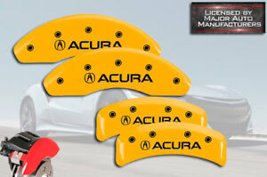 2001 2003 acura Cl Type S Base Front Rear Yellow Mgp Brake Disc Caliper Covers