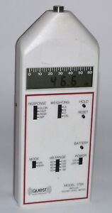 Quest Electronics Model 2700 Impulse Sound Level Meter used Power on Tested