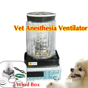 Vet Anesthesia Ventilator Wide Tidal Breathe Machine Animals pet 2 Wind Sale