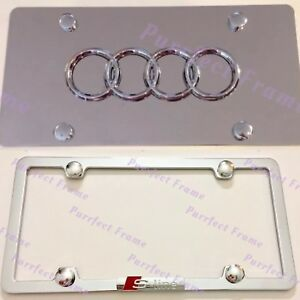 Audi S Line Stainless License Frame Mirror Plate Combo Rust Free