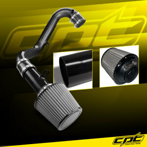 For 01 05 Civic Dx Lx Manual 1 7l Black Cold Air Intake Stainless Steel Filter