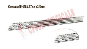 Surgical Orthopedic 2 7mm Cannulated Drill Bit For 4 0mm Cannulated Screw 5pcs