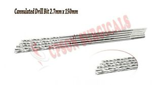 Orthopedic 2 7mm Cannulated Drill Bit For 4 0mm Cannulated Screw Lot Of 5pcs