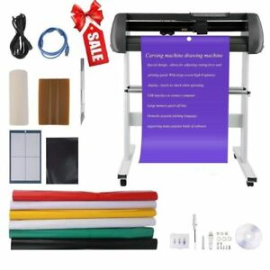 34 Vinyl Cutter Machine Vinly Sign Cutting Plotter Starter Bundle Kit Software