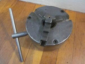 Cushman 6 3 Jaw Self Centering Lathe Chuck 3506 1 7 8 8tpi South Bend Logan