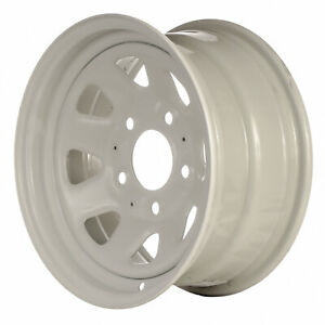 01160 Refinished Oem Ford F150 Truck 1980 1991 15in Steel Wheel Painted White