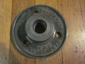 Antique Shaw s Patent 1901 Syracuse Ny Shaft Coupling Lathe Face Plate 1 3 16