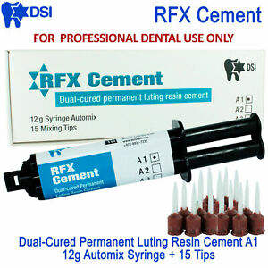 Dsi Rfx Dental Radiopaque Cement Crown Bridge Automix Permanent Resin A1 12g