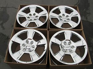 20 Chevy Tahoe Factory Wheels Rims New Chrome Alloys Silverado Suburban Set 4