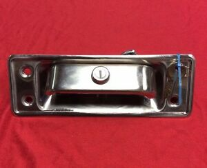 New 1966 1977 Early Ford Bronco Locking Stainless Tailgate Handle Assembly