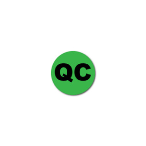 0 25 Inch Circle Quality Control Qc Green Dayglo Labels Roll Of 1 000