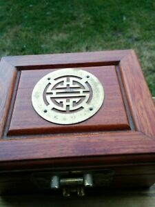 Vintage Old Wooden Jewelry Treasure Chest Box