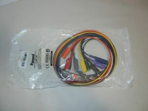 Pomona 6357 36 Banana Plug To Alligator Clip Patch Cord Kit 36 inch 10 Colors